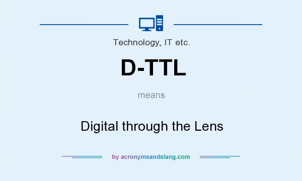 What does D-TTL mean? It stands for Digital through the Lens