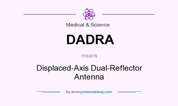 What does DADRA mean? It stands for Displaced-Axis Dual-Reflector Antenna