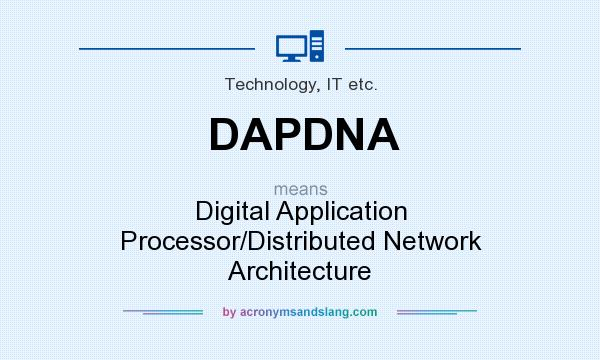 What does DAPDNA mean? It stands for Digital Application Processor/Distributed Network Architecture