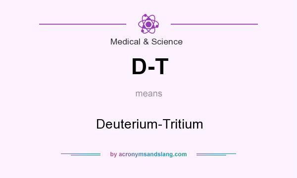 What does D-T mean? It stands for Deuterium-Tritium