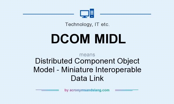 What does DCOM MIDL mean? It stands for Distributed Component Object Model - Miniature Interoperable Data Link