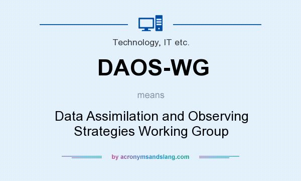 What does DAOS-WG mean? It stands for Data Assimilation and Observing Strategies Working Group