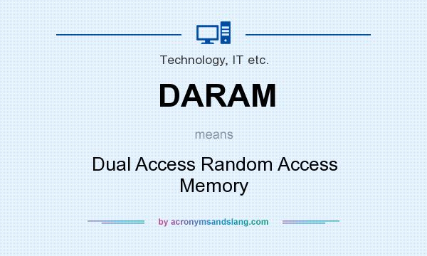 What does DARAM mean? It stands for Dual Access Random Access Memory