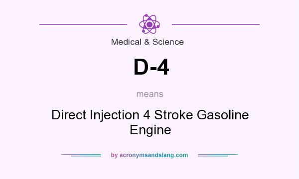 What does D-4 mean? It stands for Direct Injection 4 Stroke Gasoline Engine