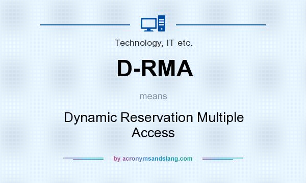 What does D-RMA mean? It stands for Dynamic Reservation Multiple Access