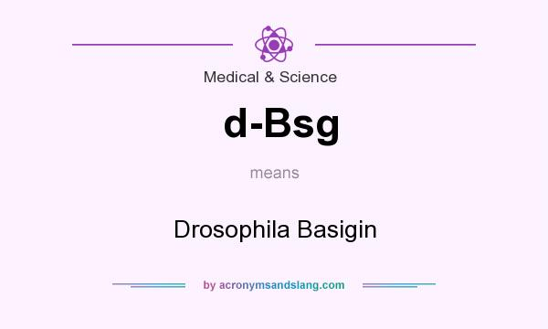 What does d-Bsg mean? It stands for Drosophila Basigin