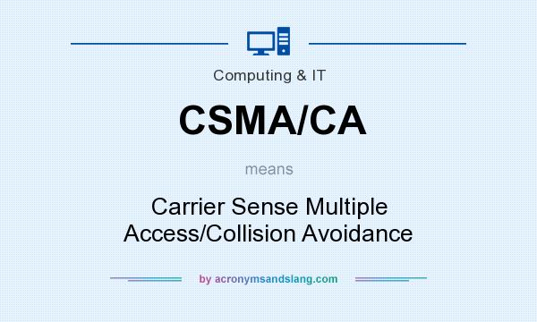 What does CSMA/CA mean? It stands for Carrier Sense Multiple Access/Collision Avoidance