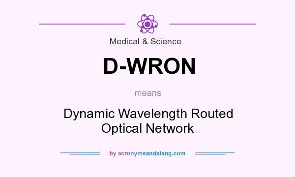 What does D-WRON mean? It stands for Dynamic Wavelength Routed Optical Network