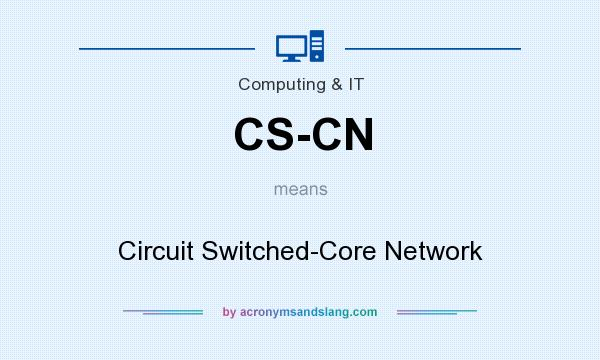 What does CS-CN mean? It stands for Circuit Switched-Core Network