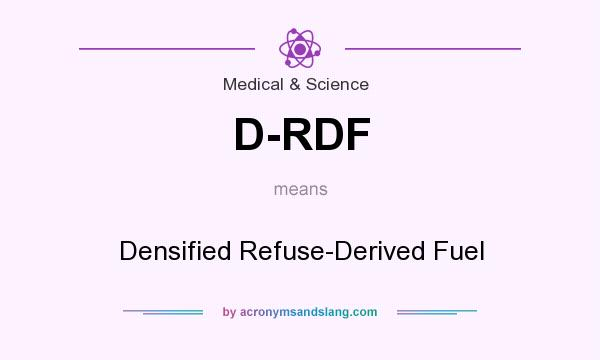 What does D-RDF mean? It stands for Densified Refuse-Derived Fuel