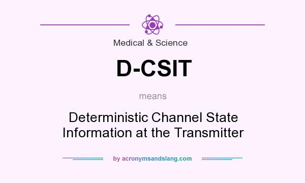 What does D-CSIT mean? It stands for Deterministic Channel State Information at the Transmitter