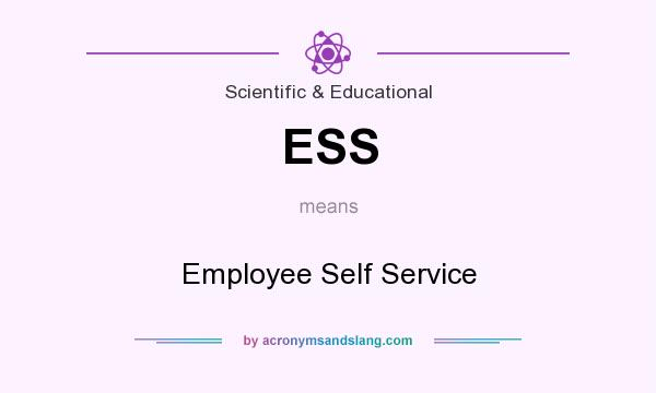 What does ESS mean? It stands for Employee Self Service