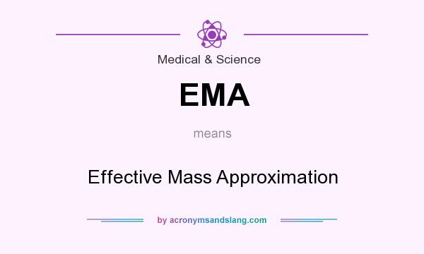 What does EMA mean? It stands for Effective Mass Approximation