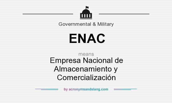 What does ENAC mean? It stands for Empresa Nacional de Almacenamiento y Comercialización