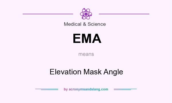 What does EMA mean? It stands for Elevation Mask Angle