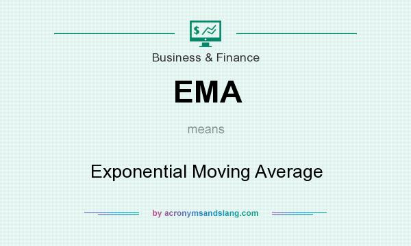 What does EMA mean? It stands for Exponential Moving Average