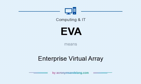What does EVA mean? It stands for Enterprise Virtual Array