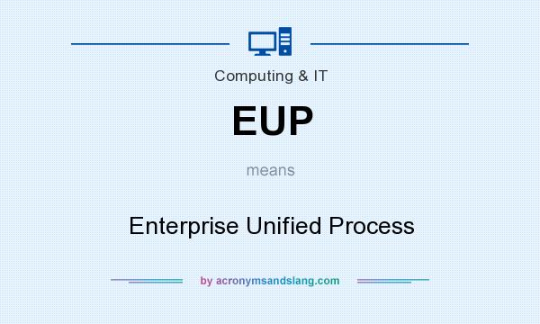 What does EUP mean? It stands for Enterprise Unified Process