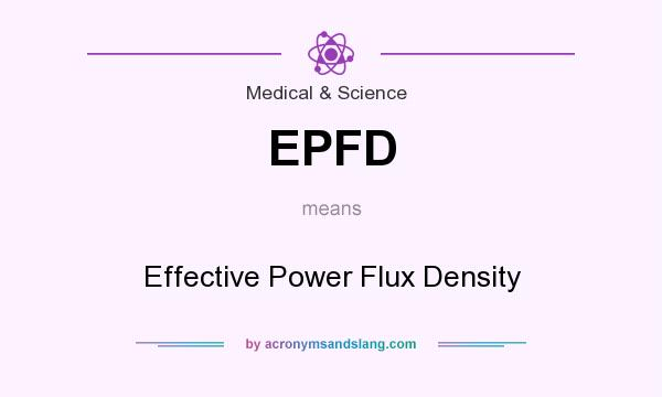 What does EPFD mean? It stands for Effective Power Flux Density