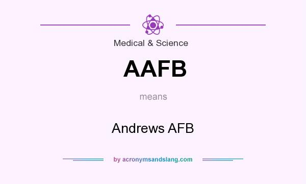 What does AAFB mean? It stands for Andrews AFB