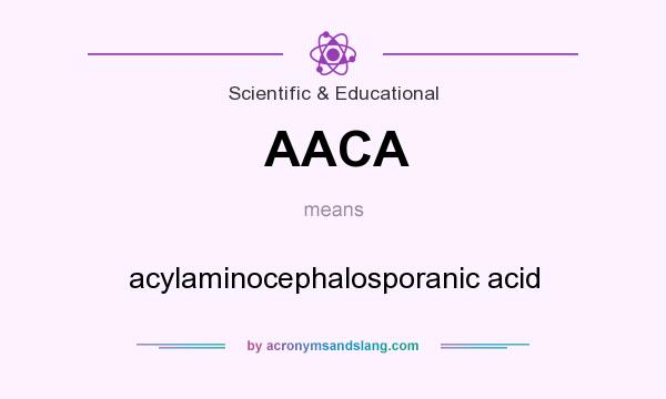 What does AACA mean? It stands for acylaminocephalosporanic acid