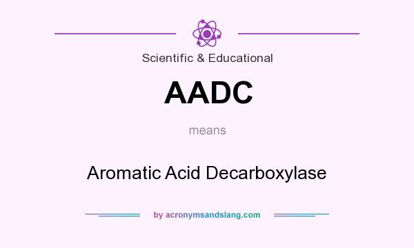 What does AADC mean? It stands for Aromatic Acid Decarboxylase