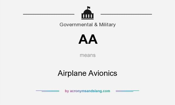 What does AA mean? It stands for Airplane Avionics