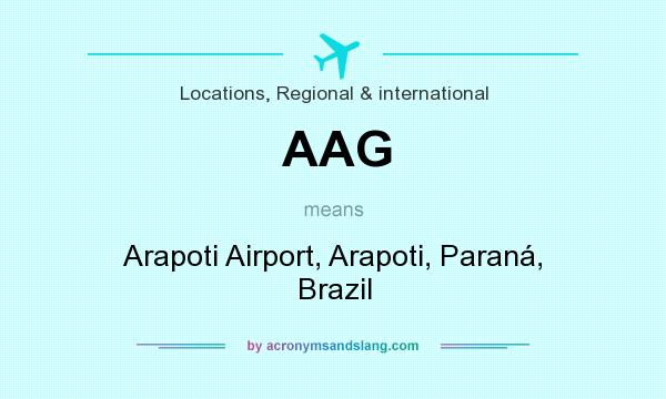 What does AAG mean? It stands for Arapoti Airport, Arapoti, Paraná, Brazil
