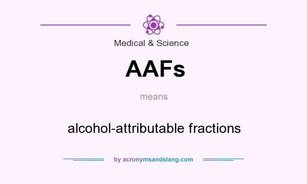 What does AAFs mean? It stands for alcohol-attributable fractions