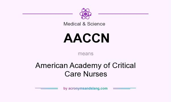 What does AACCN mean? It stands for American Academy of Critical Care Nurses