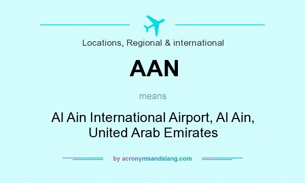 What does AAN mean? It stands for Al Ain International Airport, Al Ain, United Arab Emirates