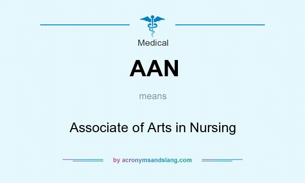 What does AAN mean? It stands for Associate of Arts in Nursing