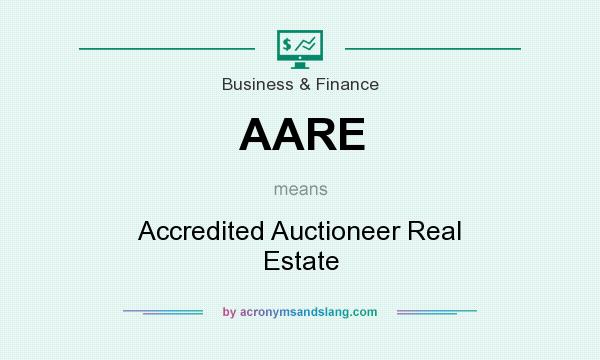 What does AARE mean? It stands for Accredited Auctioneer Real Estate