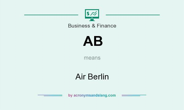 What does AB mean? It stands for Air Berlin