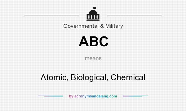 What does ABC mean? It stands for Atomic, Biological, Chemical