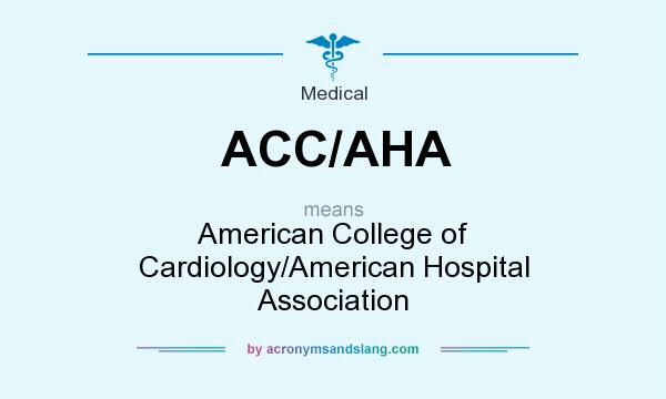 What does ACC/AHA mean? It stands for American College of Cardiology/American Hospital Association