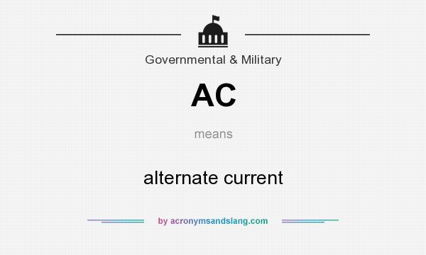 What does AC mean? It stands for alternate current
