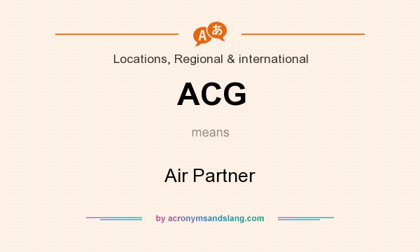 What does ACG mean? It stands for Air Partner