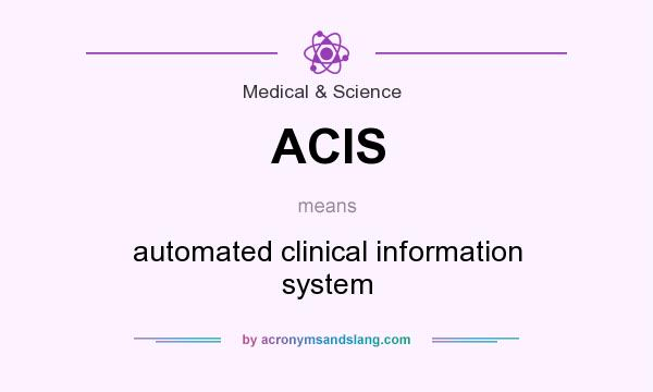 What does ACIS mean? It stands for automated clinical information system