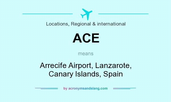 What does ACE mean? It stands for Arrecife Airport, Lanzarote, Canary Islands, Spain
