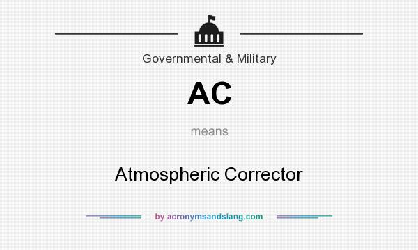 What does AC mean? It stands for Atmospheric Corrector