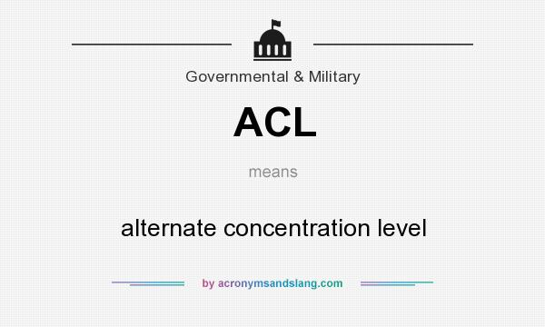 What does ACL mean? It stands for alternate concentration level