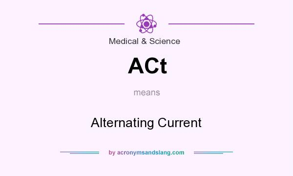 What does ACt mean? It stands for Alternating Current
