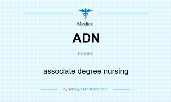 What does ADN mean? It stands for associate degree nursing