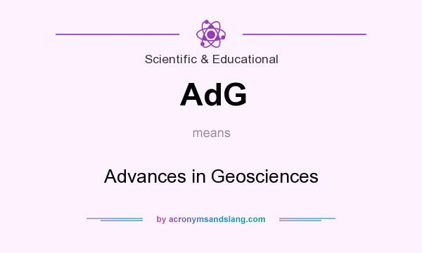 What does AdG mean? It stands for Advances in Geosciences