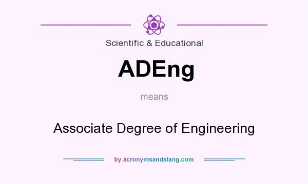 What does ADEng mean? It stands for Associate Degree of Engineering