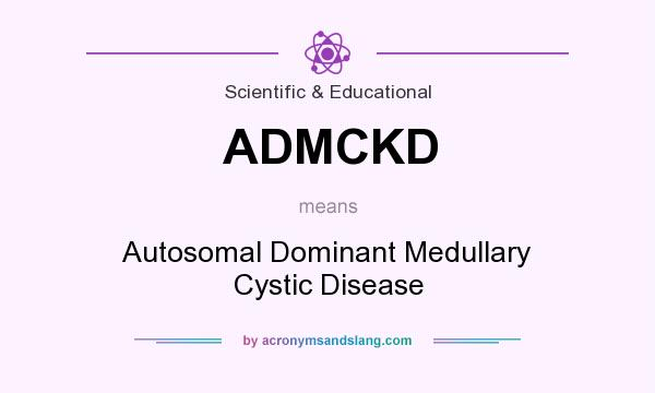 What does ADMCKD mean? It stands for Autosomal Dominant Medullary Cystic Disease