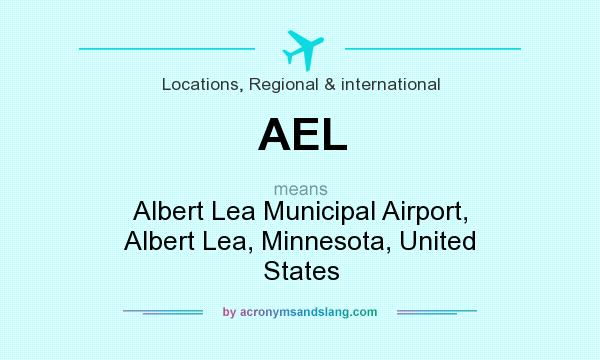 What does AEL mean? It stands for Albert Lea Municipal Airport, Albert Lea, Minnesota, United States