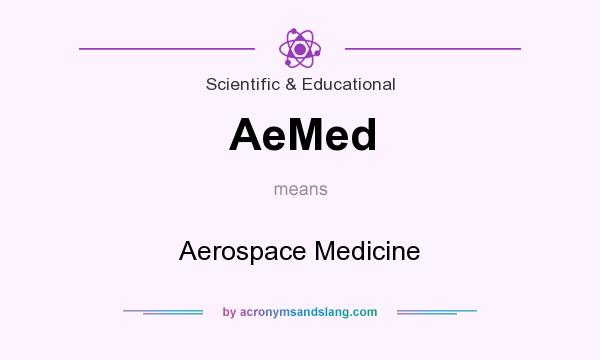 What does AeMed mean? It stands for Aerospace Medicine