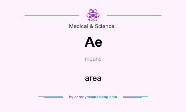 What does Ae mean? It stands for area